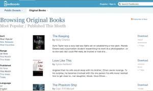 The Feedbooks homepage