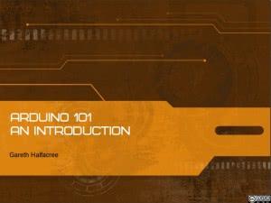 Arduino 101 Title Slide