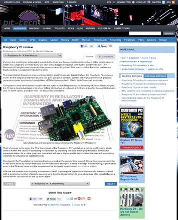 Bit-Tech, Raspberry Pi Review