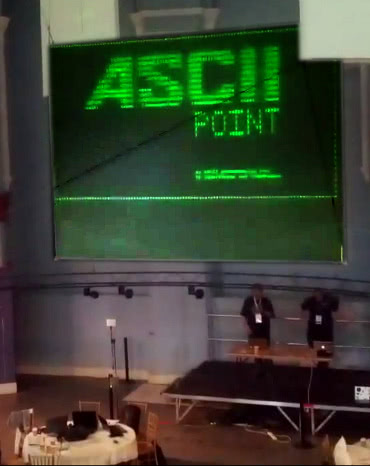 ASCIIPoint demonstration at LeedsHack 2012